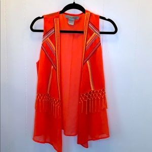 3 FOR $20 Flying Tomato Sheer Coral Cardigan Sz L